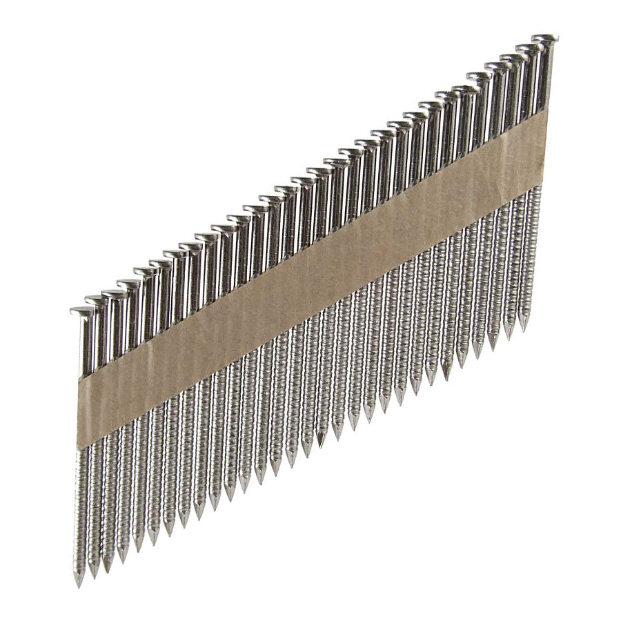 34 Degree Stainless Steel Paper Tape Collated Framing Nails