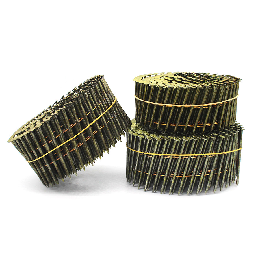 15 Degree Ring Shank Coil Nails for Fencing