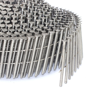 15 Degree Stainless Steel Ring Shank Coil Siding Nails 1-3/4 In. X 0.092 In.